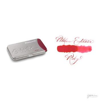 Pk/6 Pelikan Edelstein Fountain Pen Ink Cartridges, Ruby Red