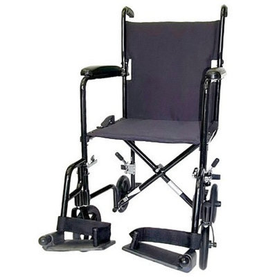 Karman 19 inch 19 lbs. Lightweight Transport Chair with Removable Footrest