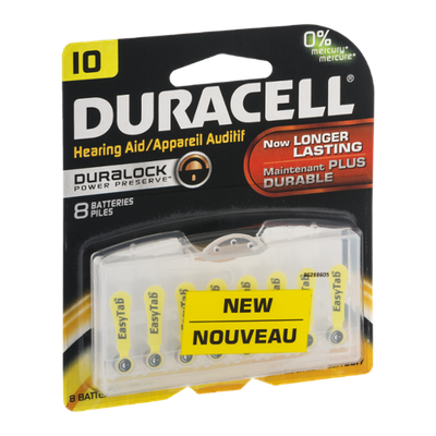 Duracell Hearing Aid Batteries IO - 8 CT