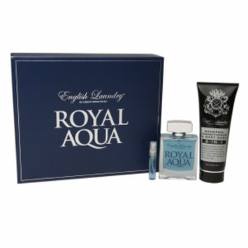 English Laundry Royal Aqua 3 Piece Gift Set Eau de Toilette, 3.4 fl oz