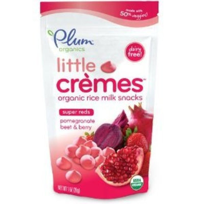 Plum Organics Baby Little Cremes Organic Rice Milk Snacks Super Reds, Pomegranate, Beet and Berry, 1 Ounce (Pack of 8)