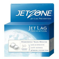 JetZone Jet Lag Prevention Homeopathic, 30 Chewable Tablets - 48 Hours Flying Time