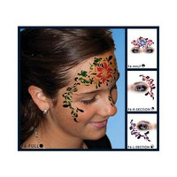 European Body Art Hawaiian Flower Face Paint Stencil Template Airbrush Halloween