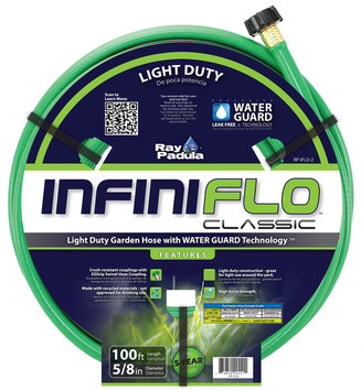 Ray Padula InfiniFlo Classic Light Duty 5/8 x 100 Garden Hose - COMMERCE LLC