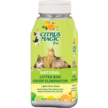 Citrus Magic Pet 11.2-Ounce Litter Box Odor Eliminator, 3-Pack, Fresh Citrus