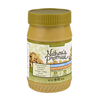 Nature's Promise Organics Smooth Peanut Butter, No Salt Added