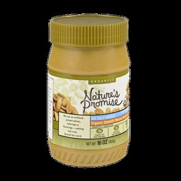 Nature's Promise Organics Smooth Peanut Butter, No Salt Added