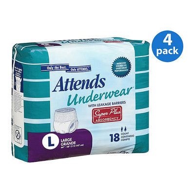 Attends Super Plus Absorbency Large Protective Underwear