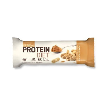 Optimum Nutrition Optimal Protein Diet Bar, Peanut Butter, 15 Count (Pack of 4)