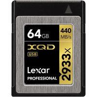 Lexar 64GB Professional 2933x XQD 2.0 Memory Card, 440MB/s Maximum Read Speed