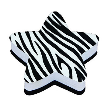 Ashley Productions ASH10027 Magnetic Whiteboard Star Zebra Erasers