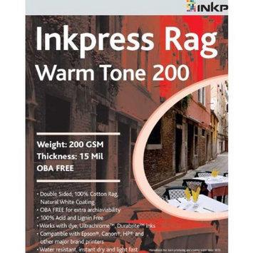 Inkpress Rag, Warm Tone Double Sided, Cream White Matte Inkjet Paper, 15 mil, 200gsm, 17 inchx50'