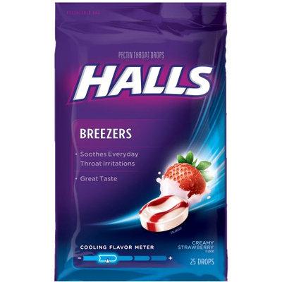HALLS Breezers Creamy Strawberry Drops