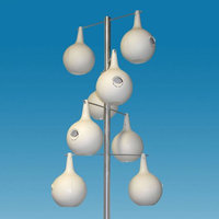 Heath 13.5 ft. Alum. PM Gourd Pole Kit 8 Piece Double Spiral Design