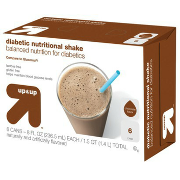 Up & Up Chocolate Diabetic Nutritional Shakes 8 fl oz - 6 Bottles