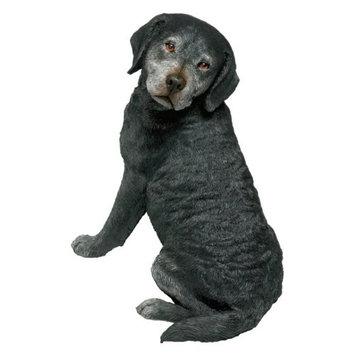 Sandicast Original Size Labrador Retriever Sculpture in Black