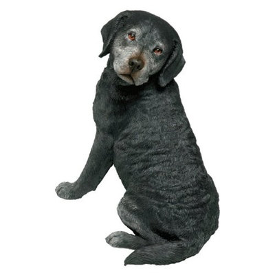 Sandicast Original Size Labrador Retriever Sculpture in Black