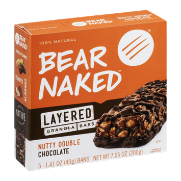 Bear Naked Layered Granola Bars Nutty Double Chocolate - 5 CT