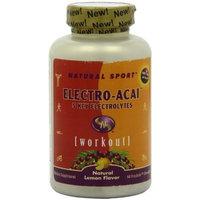 Natural Sport Electro-Acai Fizzactiv Tablets, Acai, Chewable, Lemon Flavor, 500mg, 60-Count
