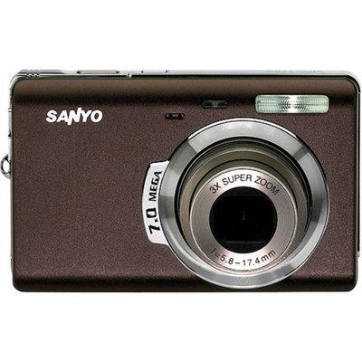 Sanyo VPC-T700 Cafe Brown 7MP Digital Camera w/ 3x Optical Zoom, 2.5