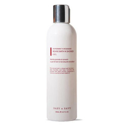 Sasy N Savy CRBS4185 Peppermint N Rosemary Revive Shower Gel 250 ml