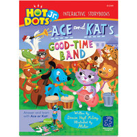 Educational Insights Hot Dots Jr. Interactive Storybooks, Ace and Kat's Goodtime Band, Pack of 6