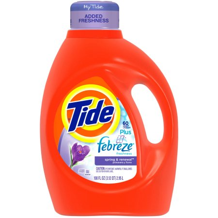 Tide 2X Ultra Liquid with Febreze Freshness Laundry Detergent