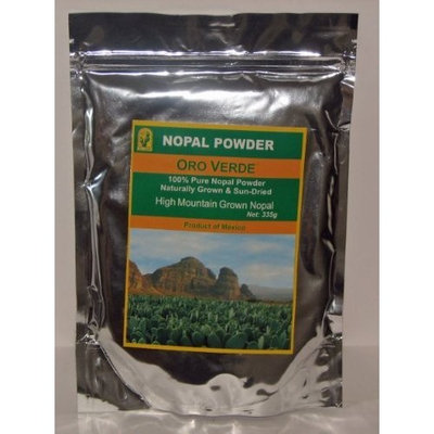 Nopal Powder - Prickly Pear, Product Of Mexico Nopal Powder - 100% Pure High Mountain Grown & Sun-Dried, 335g