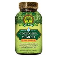 Well Roots Ginkgo-Mega Memory, Softgels, 60 ea