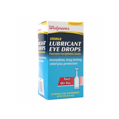 Walgreens Sterile Lube Eye Drop Vials