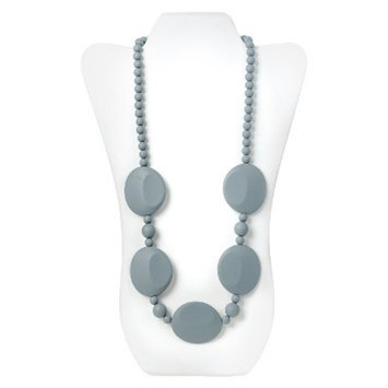 Nixi by Bumkins Pietra Silicone Teething Necklace - Gray
