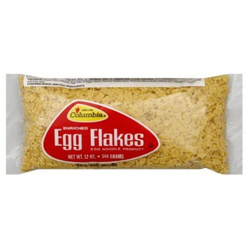 Columbia Egg Flakes Noodles, 12-Ounce (Pack of 12)