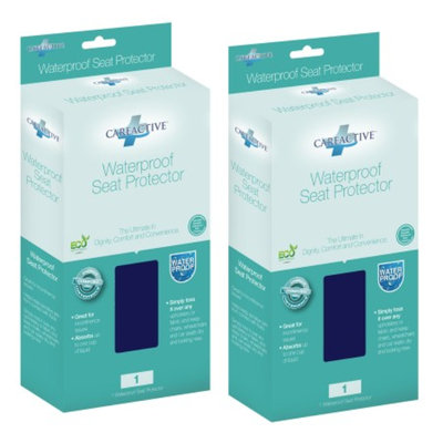 CareActive Quilted Waterproof Reusable Incontinence Seat Protector, Blue, 2 Pack, 1 ea