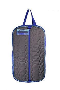Kensington Roustabout Halter/Bridle Bags One Size Grey w/Blue Ice Plaid