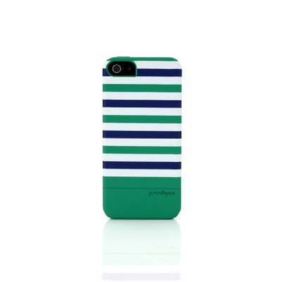 Prodigee 2 piece, Protective & Hard STRIPE Case, iPhone 5 - Emerald