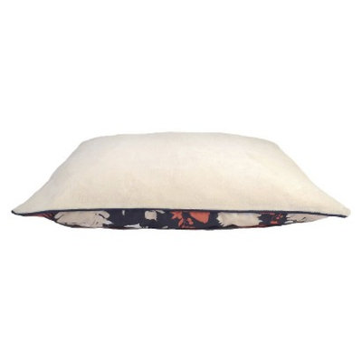 Boots & Barkley Lrg Pillow - Flower Silhouette Navy/Coral
