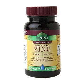 Finest Nutrition Zinc 50mg Caplets 100s