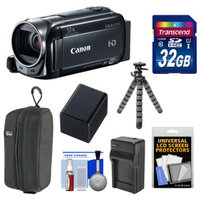 Canon Vixia HF R50 8GB 1080p HD Wi-Fi Digital Video Camcorder with 32GB Card + Battery & Charger + Case + Flex Tripod + Kit