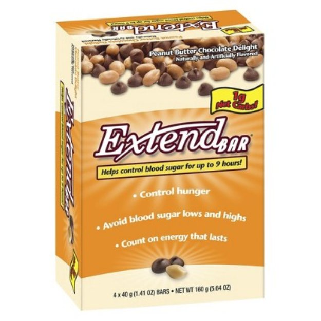 Extend Bar Peanut Butter Chocolate Delight Bars - 4 Count