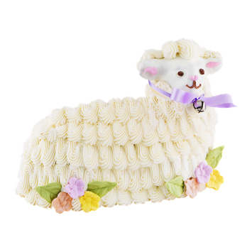 Deerfields Bakery Easter Lamb Cake Hand Decorated