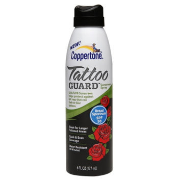 Coppertone Clearly Sheer Tattoo Guard Continuous Spray, SPF 50, 6 oz