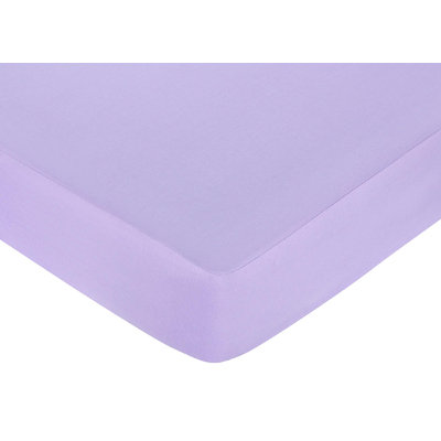 Jojo Designs, Llc. Sweet JoJo Designs Purple Fitted Crib Sheet