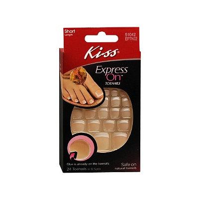 Kiss Express On Short Length Stick-On Toenails