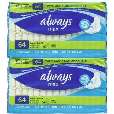 Always Long Supreme with Wings - 64 ct