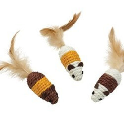 Ethical Pet Products (Spot) CSO2835 Eco Friendly Natural Sisal Mouse Cat Toy, Tan