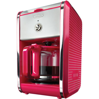 Bella Dots 12 Cup Coffee Maker - Fuchsia Pink