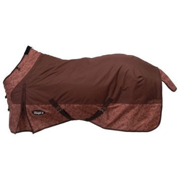 Jt International Tough-1 600D Poly Waterproof Tooled Leather Print Turnout Blanket