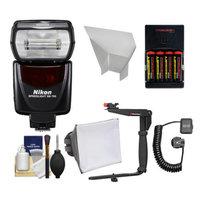 Nikon SB-700 AF Speedlight Flash with Bracket + Shoe Cord + Softbox + Bounce Reflecter + Batteries & Charger for D3200, D3300, D5200, D5300, D7000, D7100, D610, D800, D4s DSLR Cameras