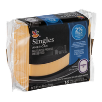 Ahold Singles American Cheese 2% Milk Individually Wrapped Slices