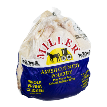 Miller Amish Country Poultry Whole Frying Chicken